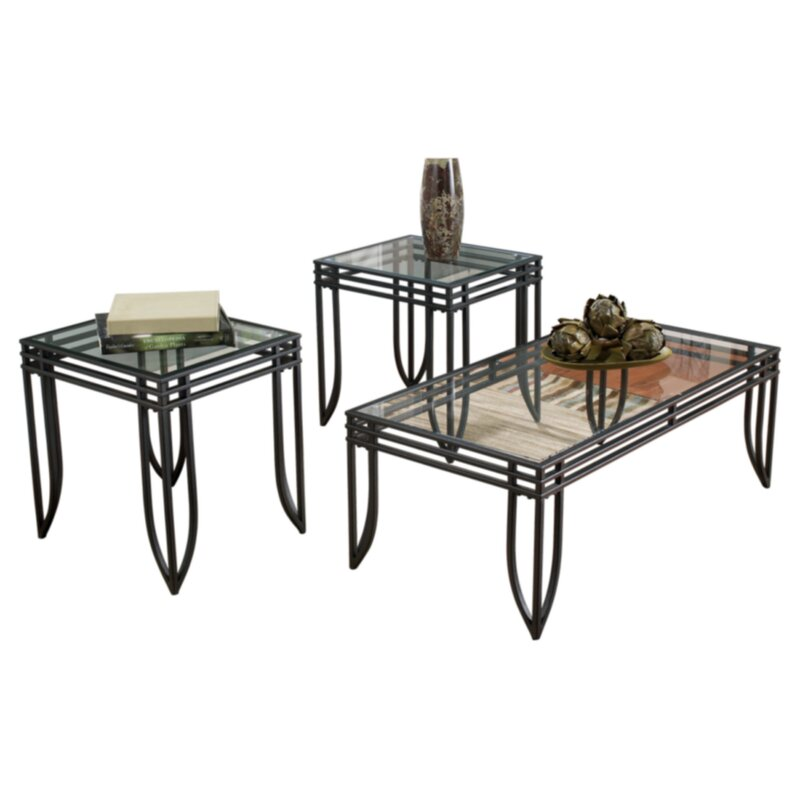 Ebern Designs Villarreal 3 Piece Coffee Table Set