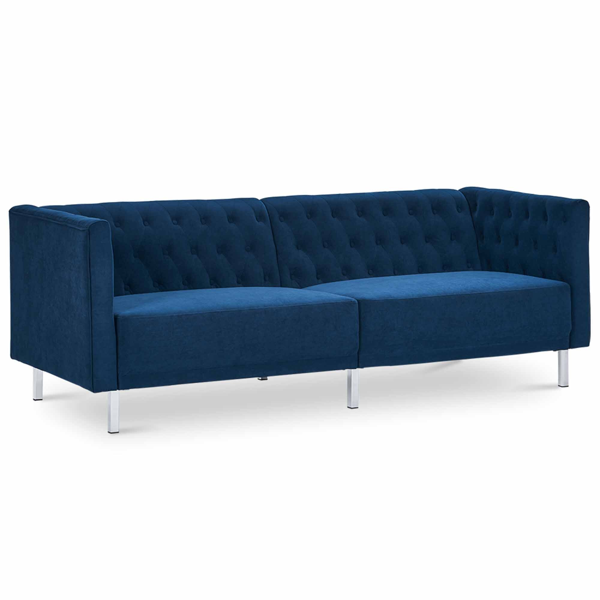Mercer41 Mailelani 80 5 Wide Velvet Round Arm Convertible Sofa Wayfair