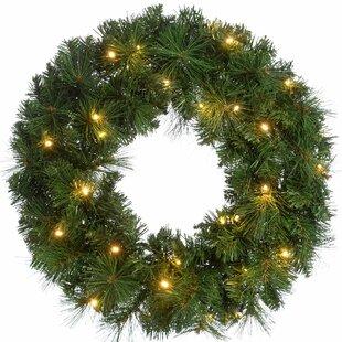 Spruce Pre-Lit Illuminated 60cm Christmas Wreath By The Seasonal Aisle