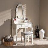 Caplinger Vanity Set with Mirror by House of Hampton®