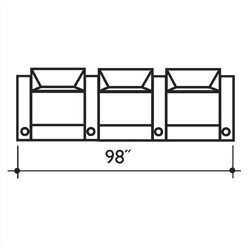 Signature Series St Tropez Home Theater Row Seating Row of 3