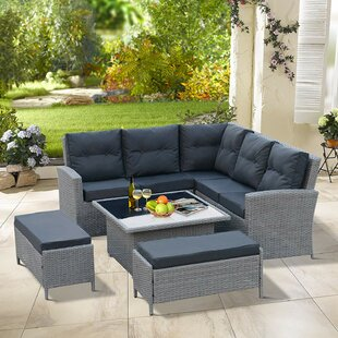Nectar Sol 72 Outdoor 6 Seater Rattan Corner Sofa Set By Sol 72 Outdoor