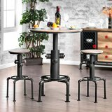 Mildred Solid Oak Dining Table by 17 Stories