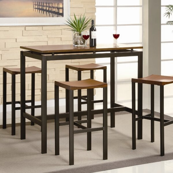 Marvelous Brayden Studio Swigart 5 Piece Pub Table Set U0026 Reviews | Wayfair