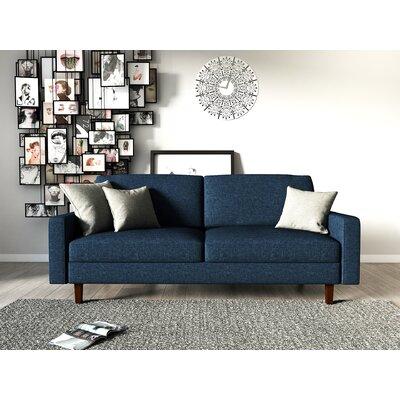 Turn on the Brights Glennon Sofa Upholstery: Dark Blue