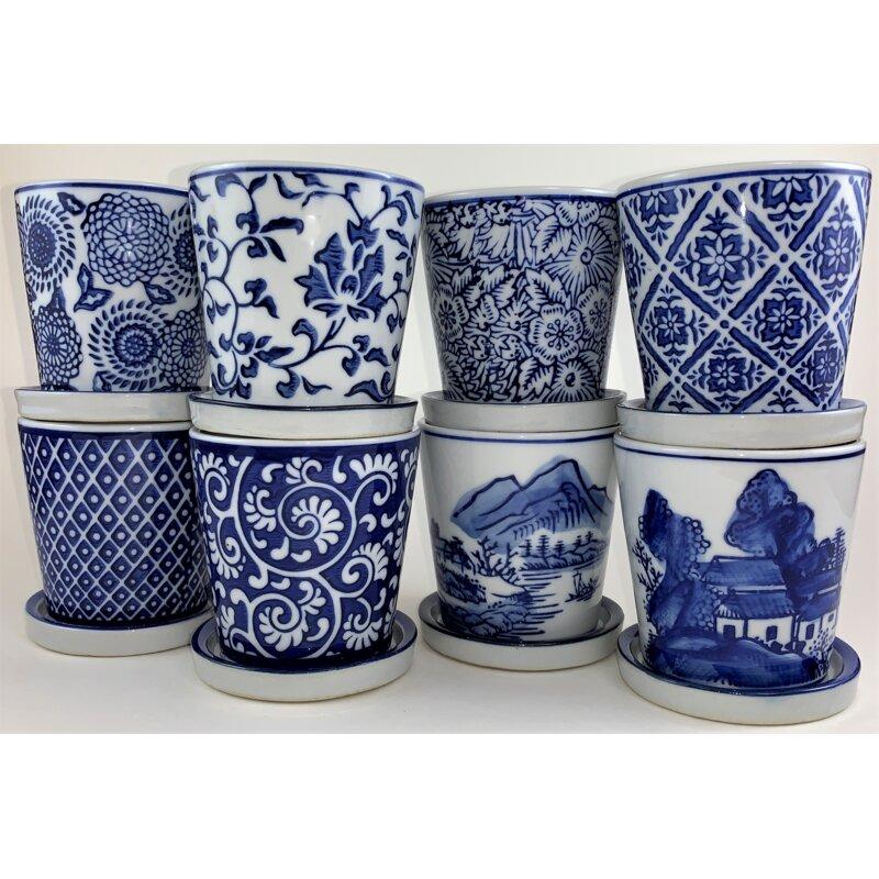 Lokman 8-Piece Porcelain Pot Planter Set