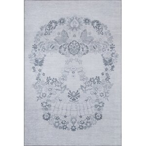 Calavera Gray Area Rug