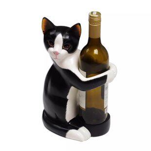 Enyeart Kitty Clasp Wood Wine Bottle Hold..