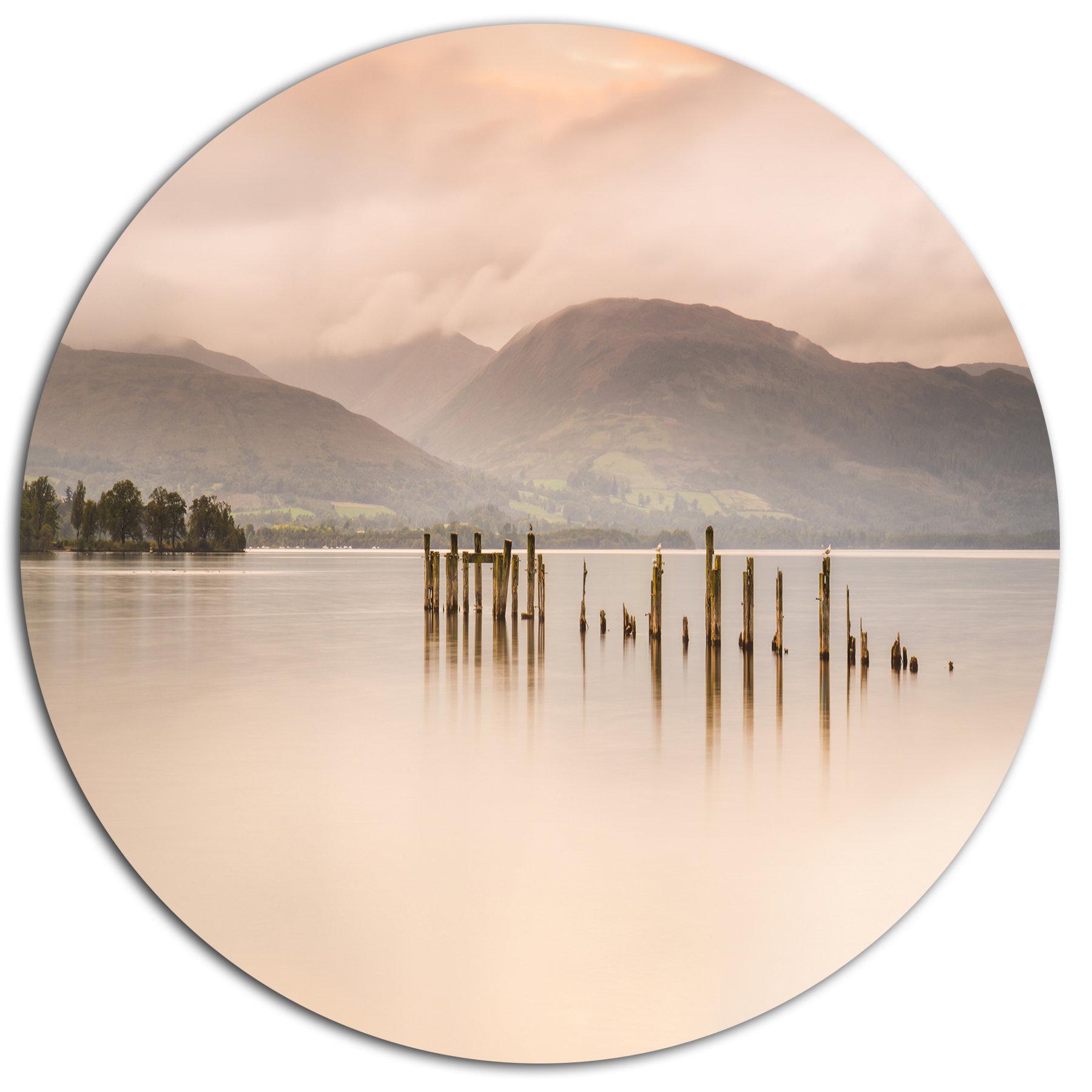 Designart Loch Lomond Jetty And Mountains Photographic Print On Metal Wayfair