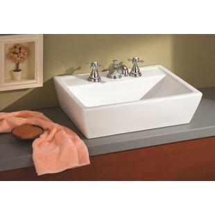 Cheviot Products Sentire Ceramic Rectangular Vessel Bathroom Sink