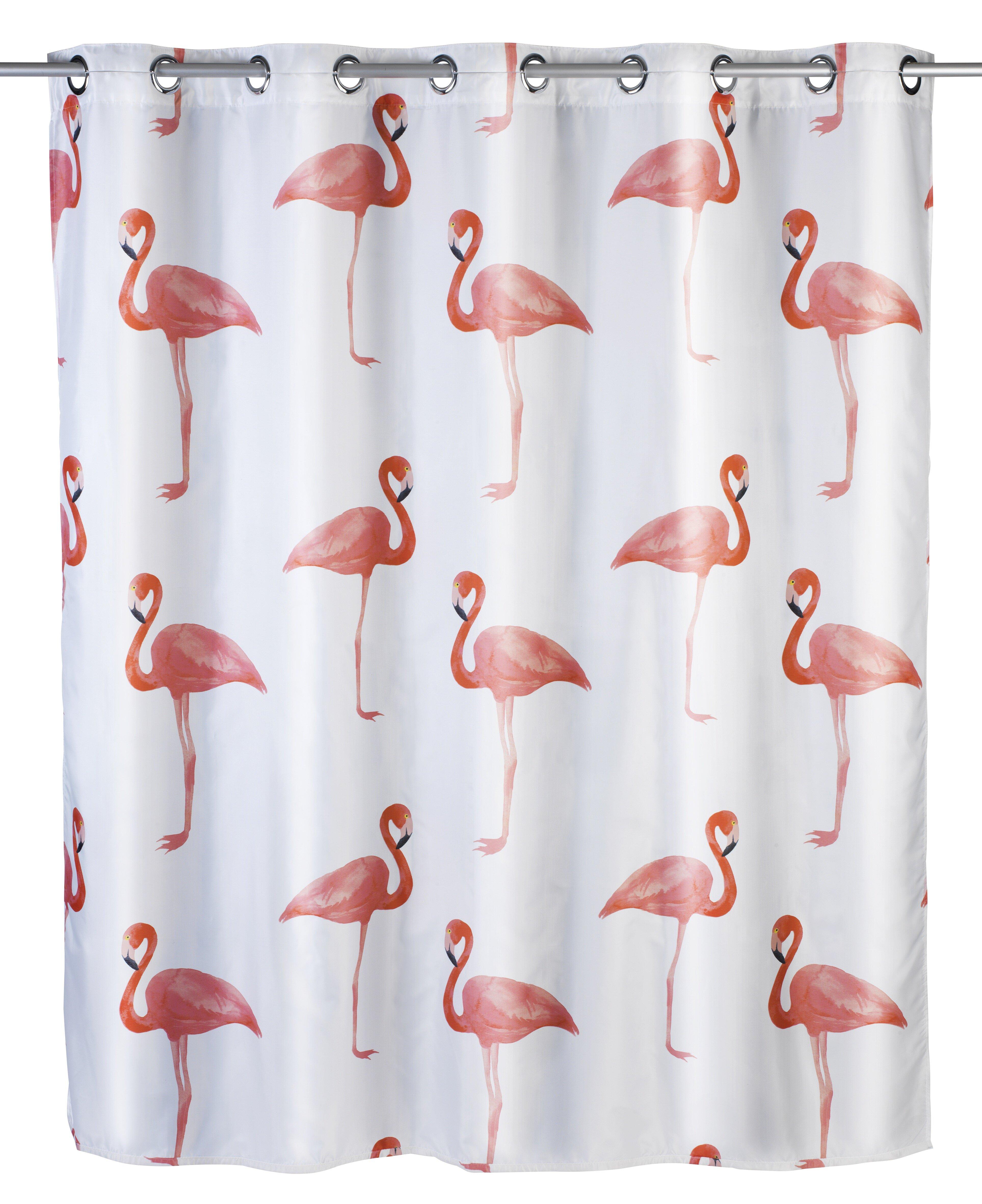Wenko Flamingo Shower Curtain