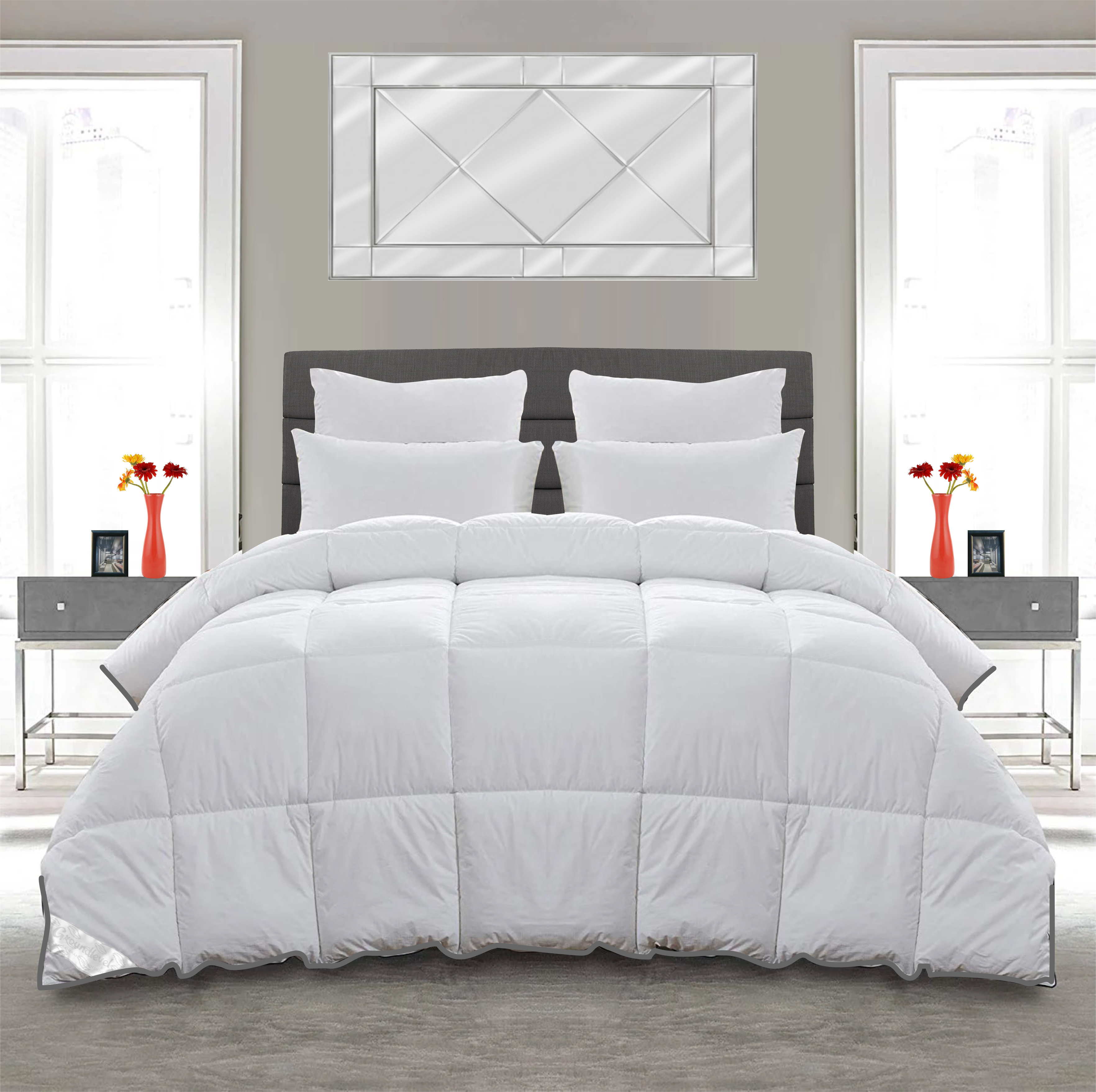 Symple Stuff Shredded Supersoft Goose Feather And Down 13 5 Tog Duvet Reviews Wayfair Co Uk