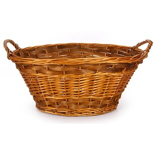 August Grove Willow Oval Wicker Laundry Basket