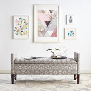 Swigart Upholstered Storage Bench by Bungalow Rose