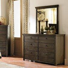 Hollister 6 Drawer Dresser with Mirror by Loon Peak