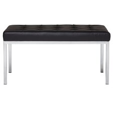 Lintel Leather Entryway Bench by Offex
