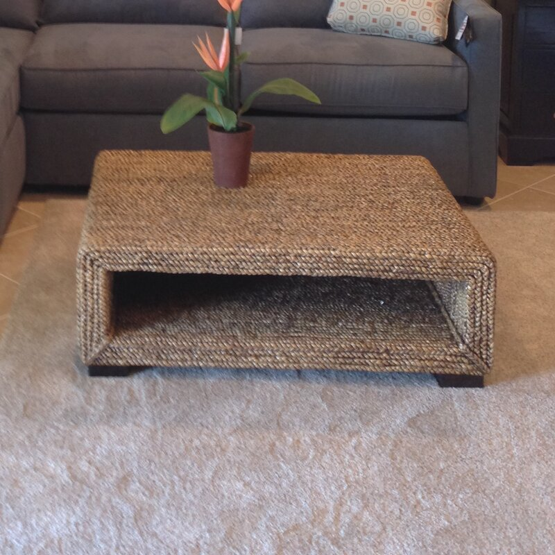 chicteak water hyacinth coffee table & reviews | wayfair