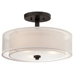 Bensenville 3 Light Semi Flush Mount