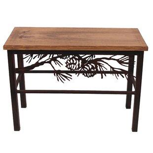 Hazle Pine Branch Scene Wood Bench