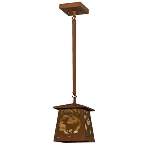 Meyda Tiffany Deer at Dawn 1-Light Lantern Pendant