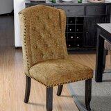 Karekin Tufted Upholstered Parsons Chair in Beige (Set of 2) by Red Barrel Studio®