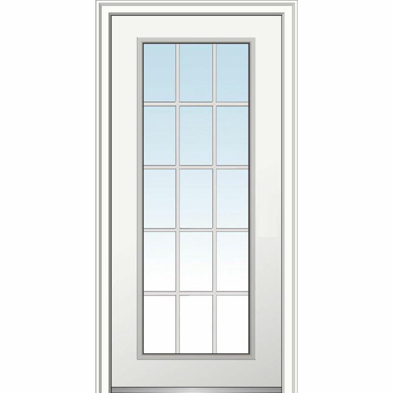 Verona Home Design Smooth Fiberglass Prehung Front Entry Door