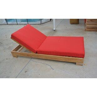 Reclining Teak Chaise Lounge with Cushion by IKsunTeak