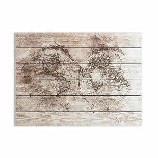 Wooden World Map Wall Art | Wayfair