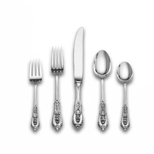 Sterling Silver Rose Point 66 Piece Flatware Set, Service for 12