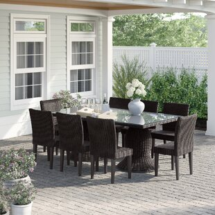 Fairfield 9 Piece Dining Set by Sol 72 Outdoor