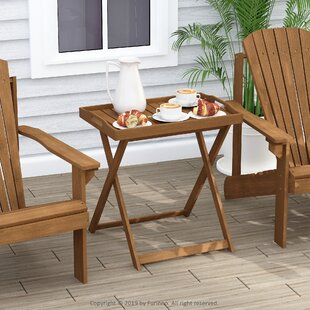 Alexei Folding Wooden Bistro Table By Blue Elephant