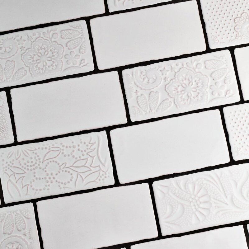 Elitetile Antiqua 3 X 6 Ceramic Subway Tile In Special Milk