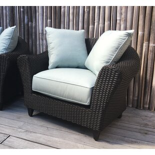 Vickey Outdoor Wicker Patio Chair with Sunbrella Cushions by Darby Home Co