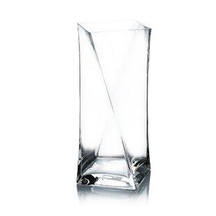Block Twist Design Glass Vase