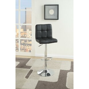 Sherrer Gas Lift Armless Adjustable Height Bar Stool (Set of 2) Orren Ellis