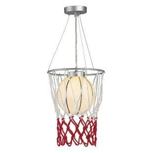 Zoomie Kids Kinkead Childrens Basketball 1-Light Novelty Pendant