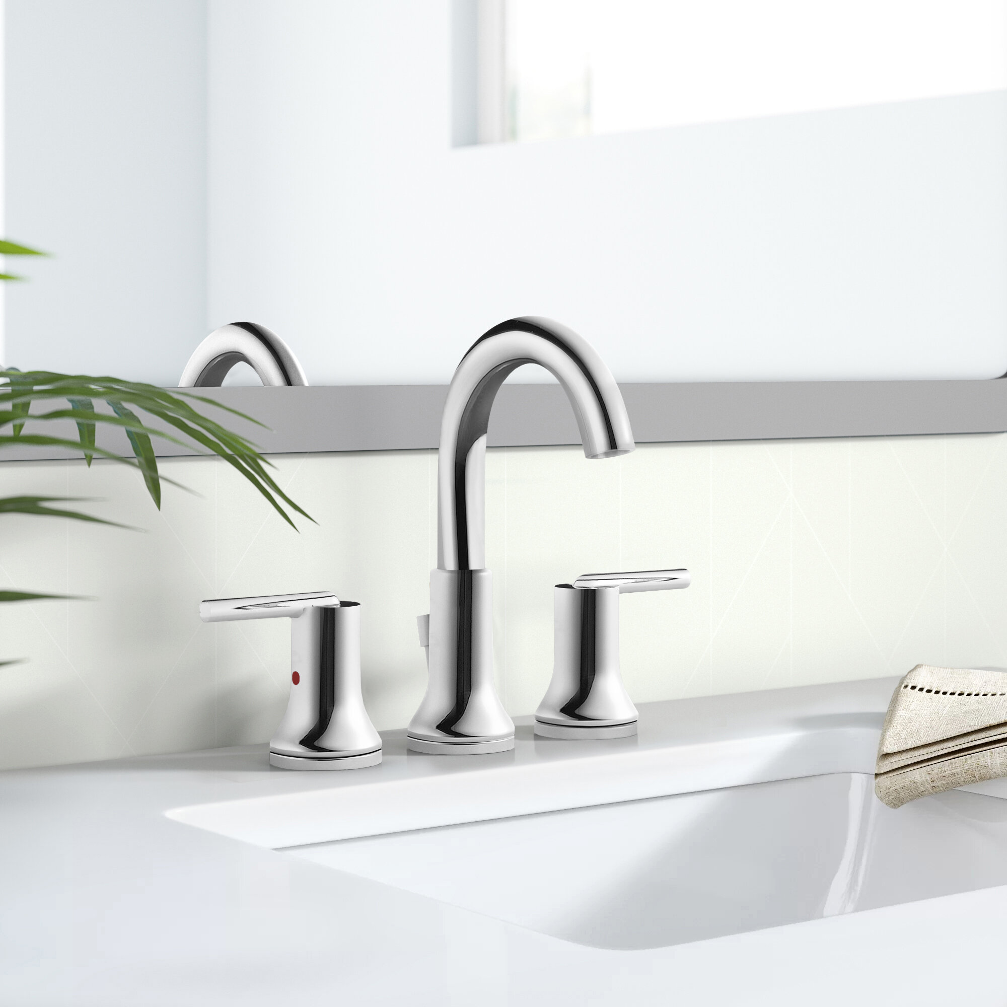 Trinsic Widespread Bathroom Faucet With Drain Assembly And Diamond Seal Technology Reviews Allmodern