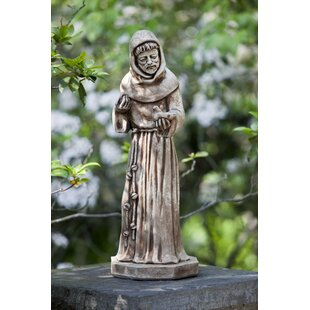 Campania International St. Francis with Bird Statue