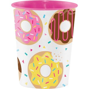Donut Time Keepsake Plastic Disposable Cup (Set of 8)
