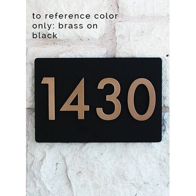 Montague Hampton Personalized Address Plaque Marker Sign in 3 Sizes /& 15 Colors
