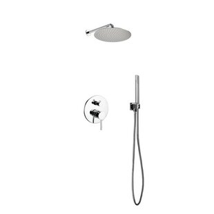 Rebrilliant Bustillos Diverter Complete Shower System with Metal Round Handle