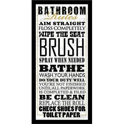 Red Barrel Studio Plexi Bathroom Humor Rest Room Framed Textual