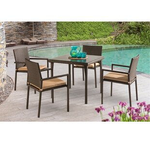 Mercury Row Basinger 5 Piece Dining Set with Cushions