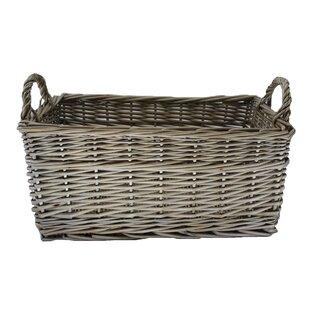 Shallow Storage Wicker Basket By Brambly Cottage
