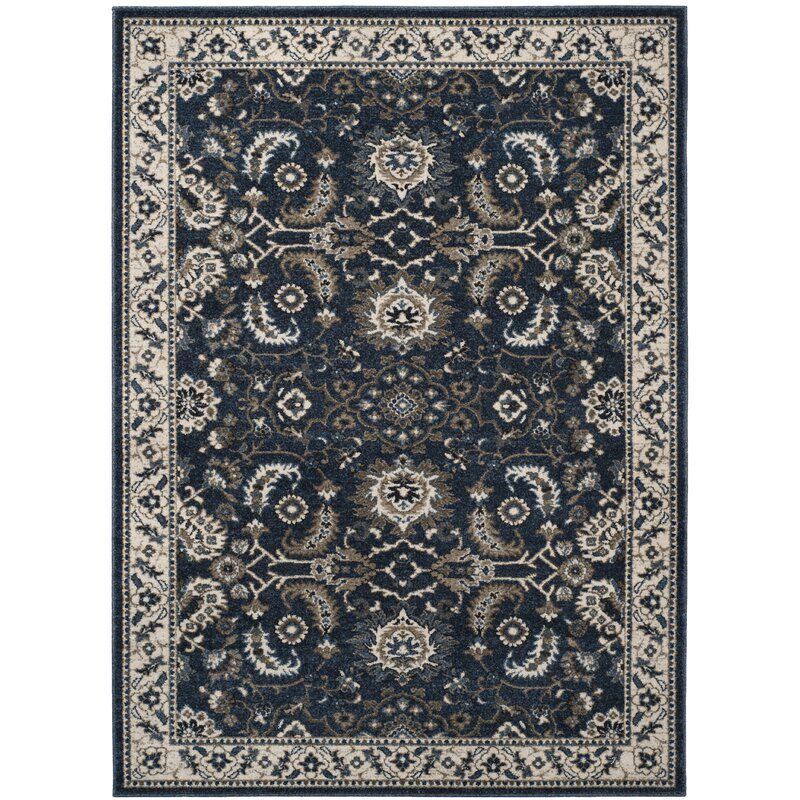 Charlton Home Arthur Oriental Dark Blue Gray Area Rug Reviews Wayfair