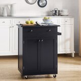 Emrik Kitchen Cart by Ebern Designs