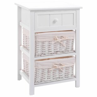 Braintree 1 Drawer Nightstand with 2 Baskets By Highland Dunes