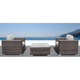 Whitmer 3 Piece Conversation Set with Cushions
