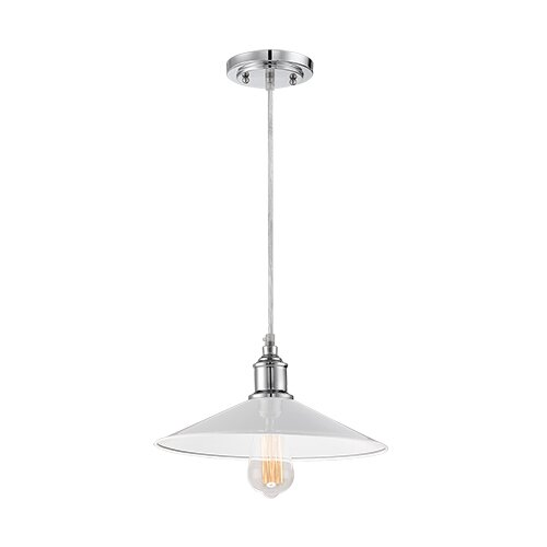 1-Light Mini Pendant #minipendant #whitependant