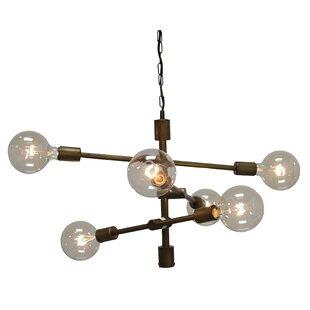 Brayden Studio Wunsch 6-Light Sputnik Chandelier